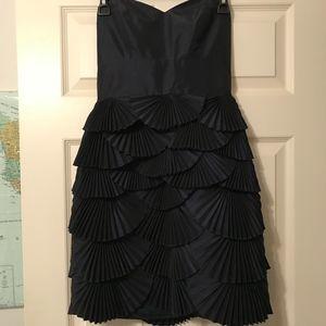 Laundry by Shelli Segal navy strapless dress